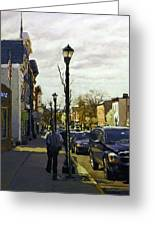 Man With Guitar On Warren Greeting Card