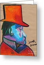 Man With Top Hat Greeting Card