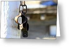 Manacles At The Old Fort Greeting Card