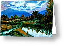 Manas Sarovr Lake-17- Greeting Card