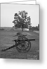Manassas Battlefield Cannon And House Greeting Card