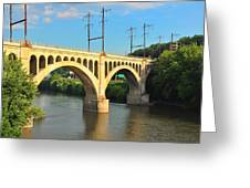 Manayunk Stone Arch Bridge Greeting Card