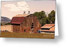 Mancos Colorado Barn Greeting Card
