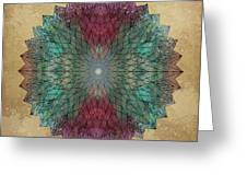Mandala Crystal Greeting Card by Filippo B
