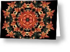 Mandala Daylily Greeting Card