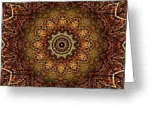 Mandala Of Bones Greeting Card