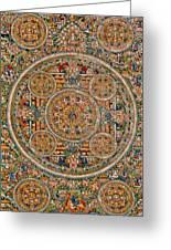 Mandala Of Heruka In Yab Yum And Buddhas Greeting Card