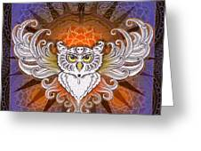 Mandala Owl Greeting Card