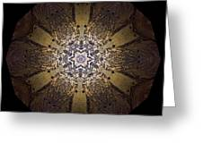 Mandala Sand Dollar At Wells Greeting Card