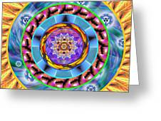 Mandala Wormhole 101 Greeting Card by Derek Gedney