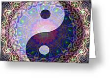 Mandala Yin Yang Greeting Card