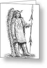 Mandan Indian Chief Greeting Card
