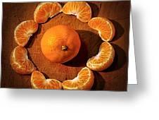 Mandarin - Vignette Greeting Card by Kaye Menner