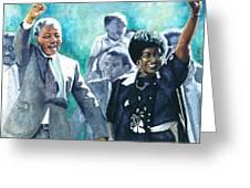 Mandela - Leaving Prison Greeting Card