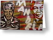 Mandela Greeting Card by Tony B Conscious