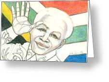 Mandela's Blooming Shirt Greeting Card