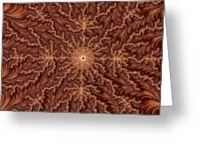 Mandelbrot Woodcarving Greeting Card
