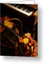 Mandolin Autumn 5 Greeting Card