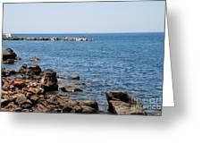 Mandraki Coastline Nisyros Greeting Card