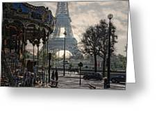 Manege Parisienne Greeting Card