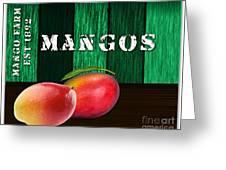 Mango Farm Sign Greeting Card