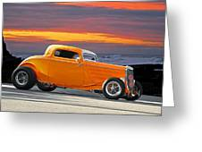 Mango Madness 1933 Ford Hiboy Coupe Greeting Card