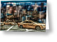 Manhattan - Yellow Cabs - Future Greeting Card