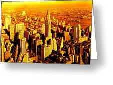 Manhattan And Chrysler Building Greeting Card