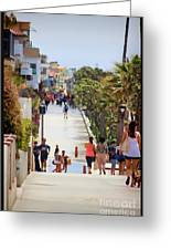 Manhattan Beach Boardwalk Greeting Card