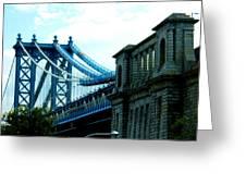 Manhattan Bridge Greeting Card
