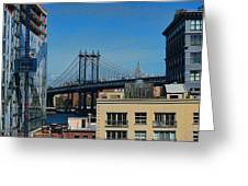 Manhattan Bridge From Brooklyn Greeting Card