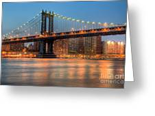 Manhattan Bridge I Greeting Card
