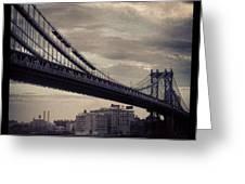 Manhattan Bridge In Ny Greeting Card
