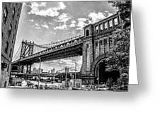 Manhattan Bridge - Pike And Cherry Streets Greeting Card