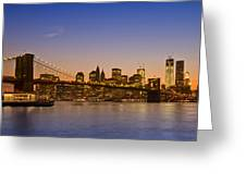 Manhattan Brooklyn Bridge Greeting Card