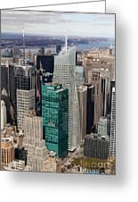 Manhattan Bryant Park Aerial Greeting Card by Jannis Werner