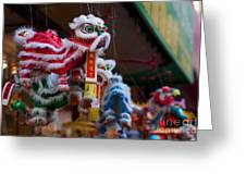 Manhattan Chinatown Decorations Greeting Card
