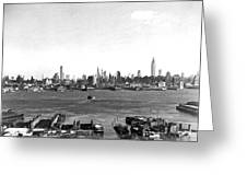 Manhattan From New Jersey Greeting Card