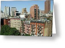 Manhattan Graffiti Greeting Card by Diane Reed