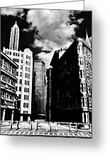 Manhattan Highlights B W Greeting Card