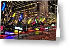 Manhattan Holiday Decorations Greeting Card