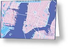 Manhattan Map Graphic Greeting Card