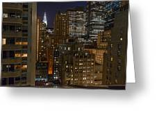 Manhattan Night Greeting Card