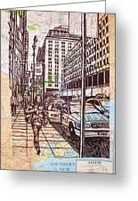Manhattan On Map Greeting Card