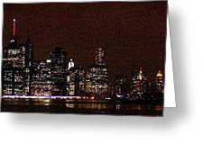 Manhattan On Super Weekend Greeting Card