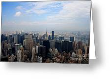 Manhattan Overview Greeting Card