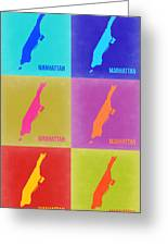 Manhattan Pop Art Map 3 Greeting Card