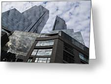 Manhattan Sky And Skyscrapers Greeting Card