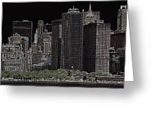 Manhattan Skyline Abstract Greeting Card