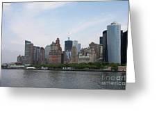 Manhattan Skyline Greeting Card